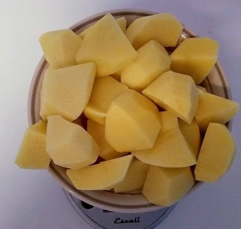2 pounds of peeled yellow potatoes