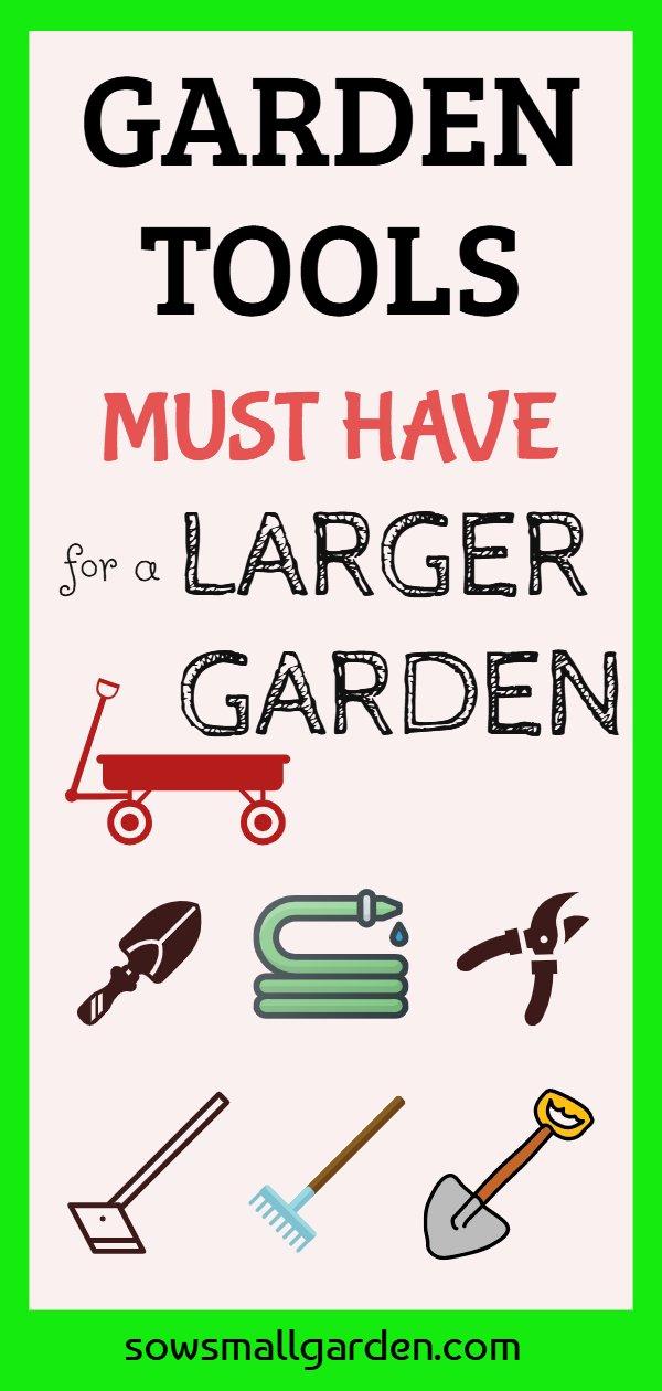 garden tools for a larger garden