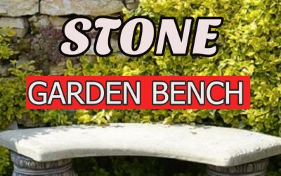 Stone Garden Bench: add a touch of timeless elegance to your garden