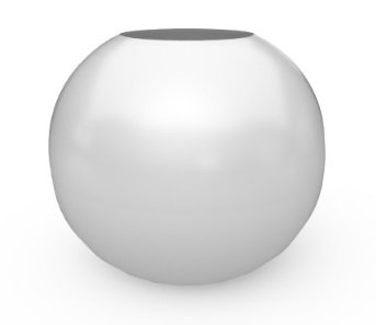 sphere shaped fiberglass planter