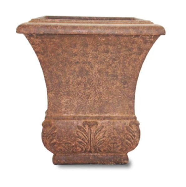 classic fiberglass planter from Lowes