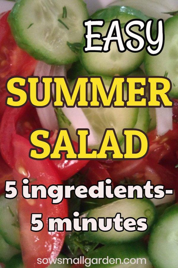 healthy easy summer salad