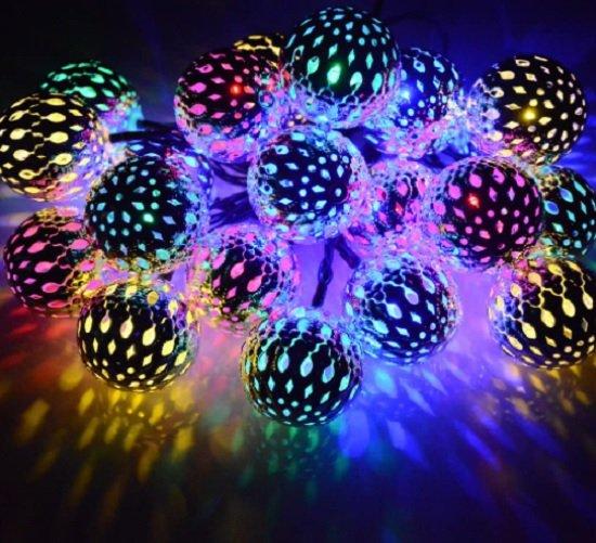 moroccan ball solar lights