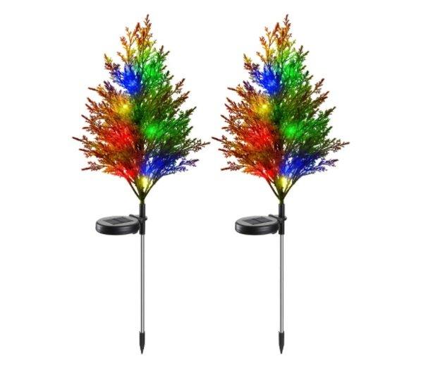solar Christmas tree lights