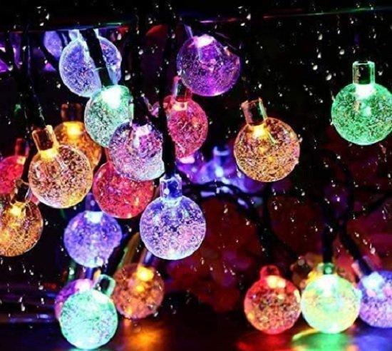 chrystal ball fairy solar Christmas lights