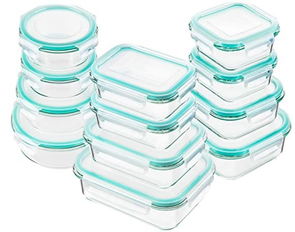 glass containers: perfect for storing onions i the fridge