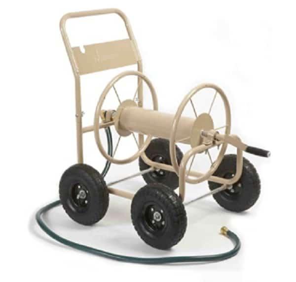 Liberty garden hose reel cart with wheels