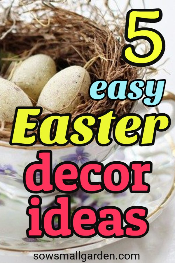 Easter decoration ideas - inspired by nature