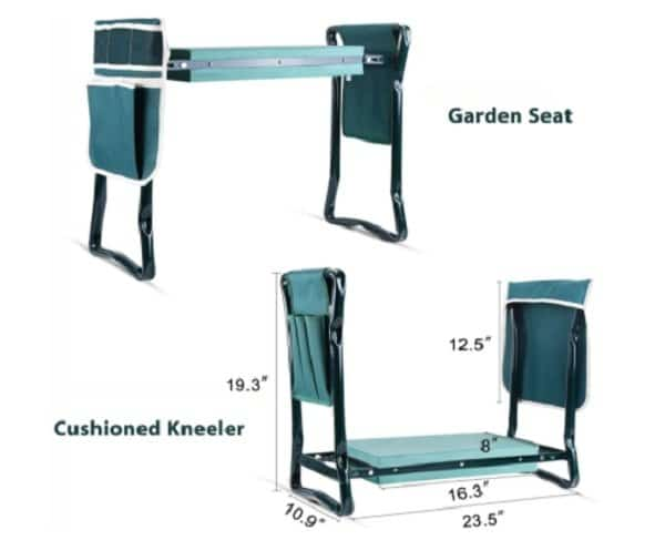 Garden kneeler and seat in one - best for seniors and people with arthritis