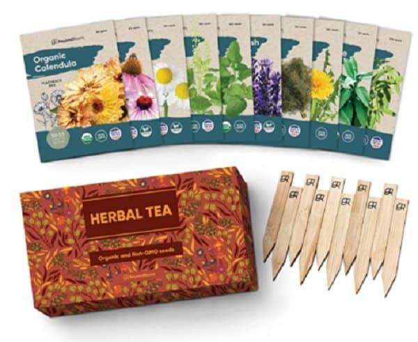 organic herbal tea seeds pack