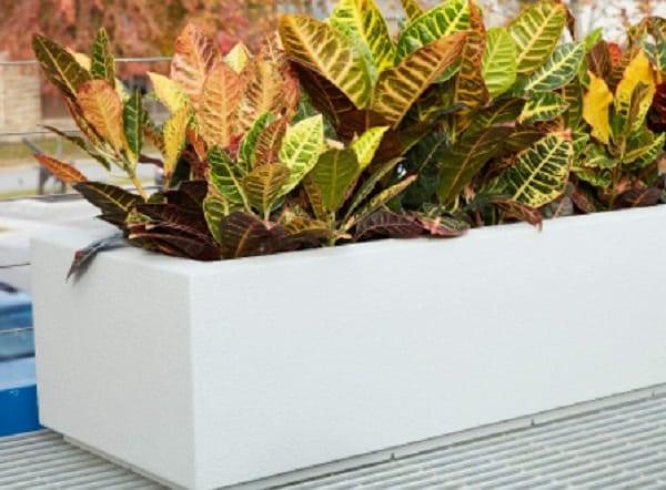 modern fiberglass box planter