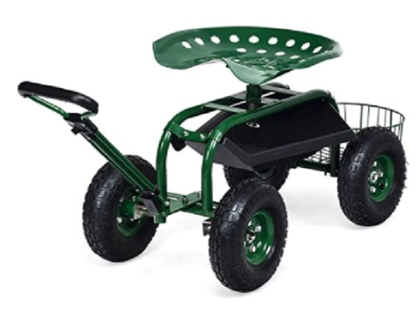 gardening seat with wheels