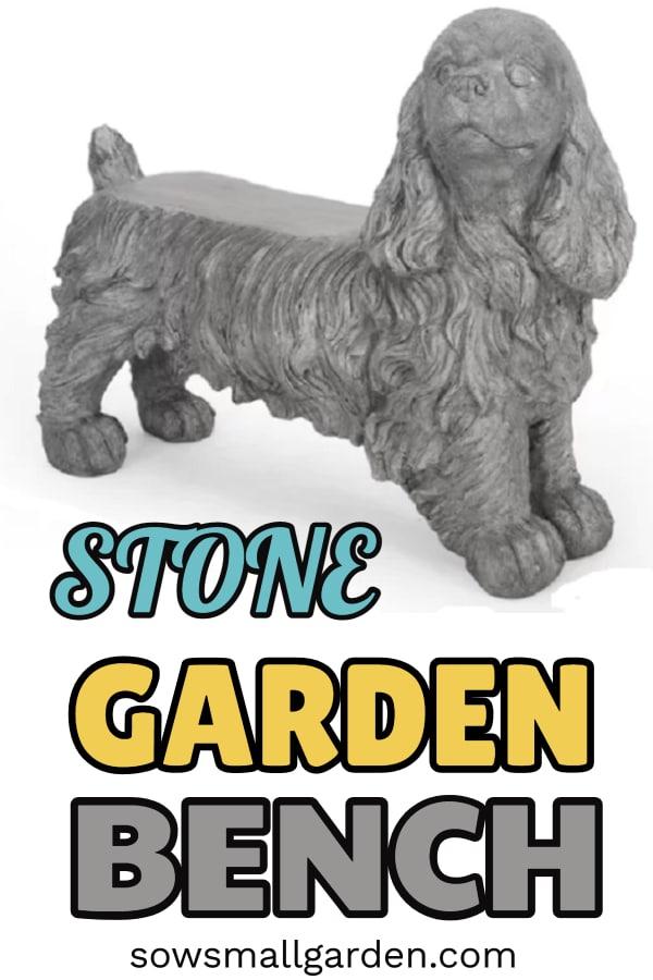 stone garden bench for garden decor
