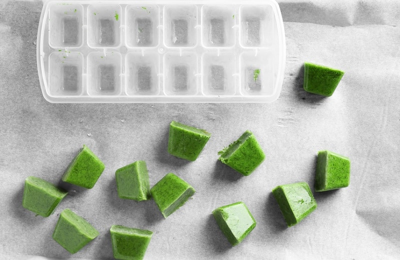 how to freeze pureed dill