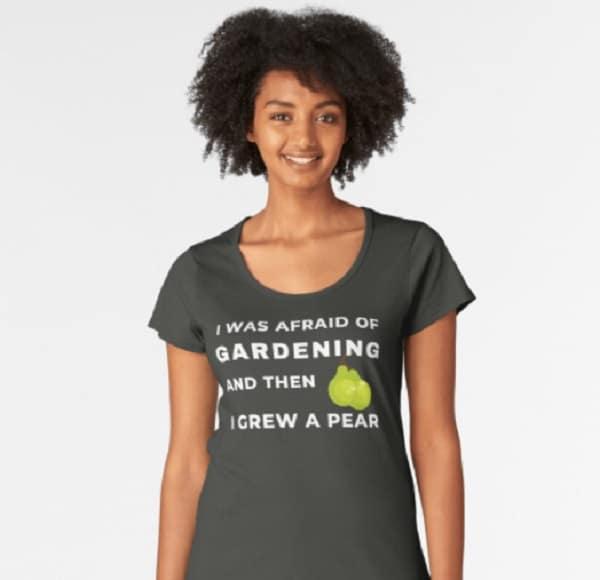 funny gardening T shirt