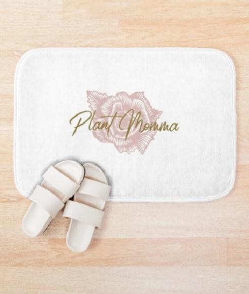 Plant Momma bath mat